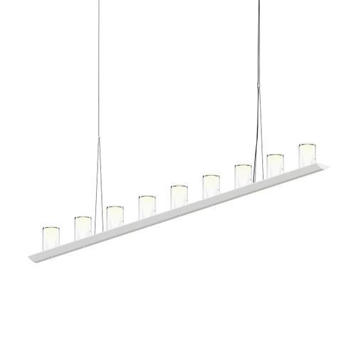 "Sonneman - A Way of Light - Votives LED Bar Pendant [Size=6', Color/Finish=Satin White, Shade Size=4.5"" height x 2.75"" diameter]"