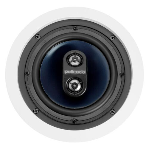 "RC Series round in-ceiling 6.5"" stereo speaker in Paintable White"