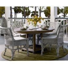 See Details - Breakfast Table and 4 Wicker chairs