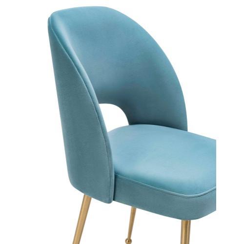 Swell Sea Blue Velvet Chair