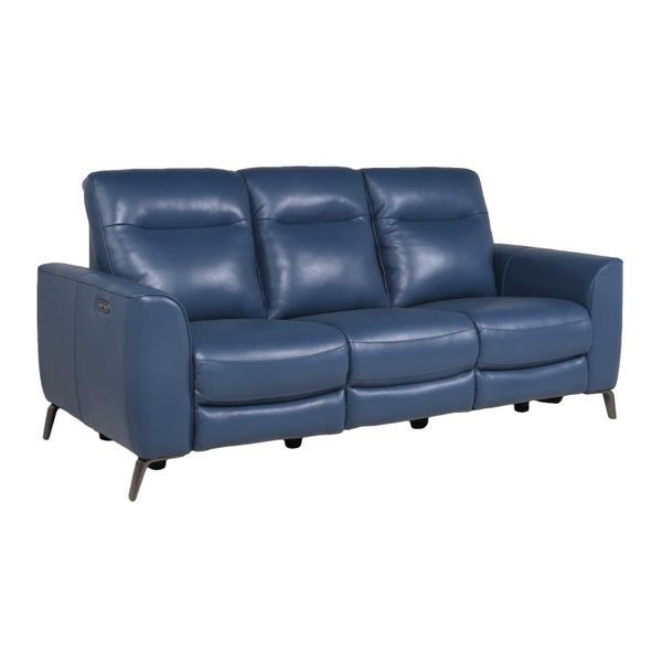 See Details - Sansa Leather Dual-Power Reclining Sofa