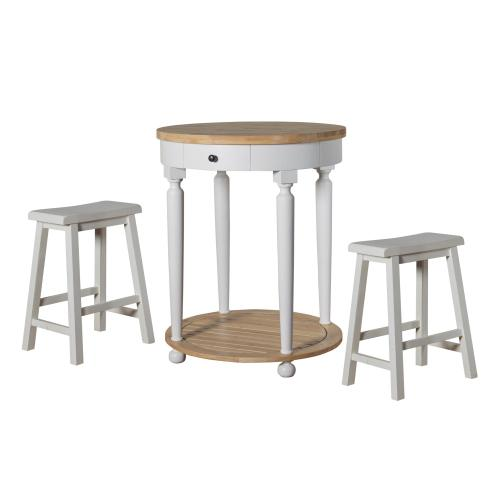 Saddle Seat Counter Stool, Pure White