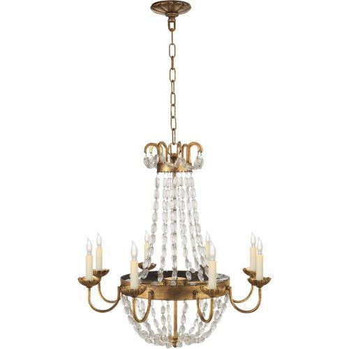 Visual Comfort CHC1426GI-SG E F Chapman Paris Flea Market 8 Light 24 inch Gilded Iron Chandelier Ceiling Light