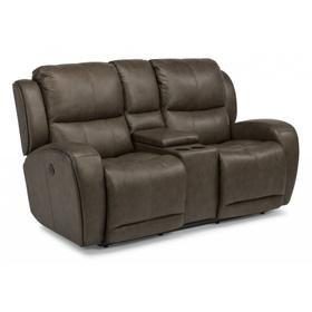 Chaz Power Reclining Loveseat with Console