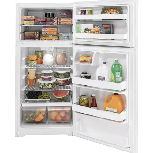 GE Energy Star® 15.6 Cu. Ft. Top-Freezer Refrigerator White - GTE16DTNLWW