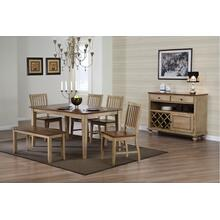 DLU-BR3660-C60-BNPW6PC  6 Piece Rectangular Dining Set with Bench