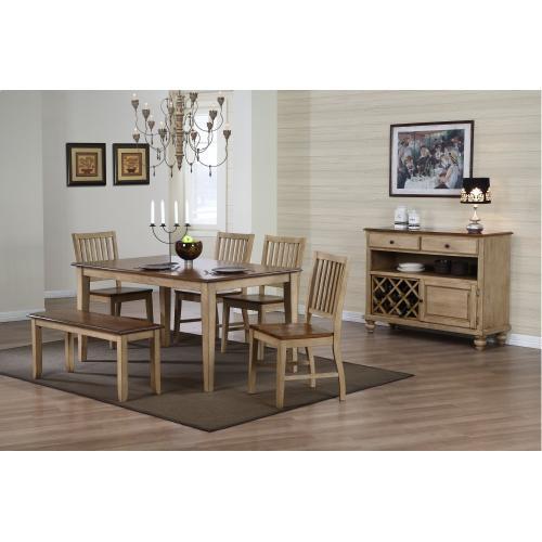 Rectangular Dining Set w/Bench (6 piece)