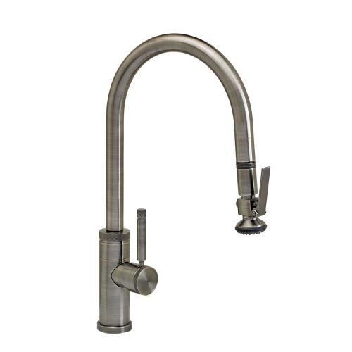 Industrial PLP Pulldown Faucet - Angled Spout - 9810 - Waterstone Luxury Kitchen Faucets