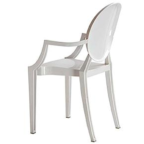 Isolde Baroque Chair-White