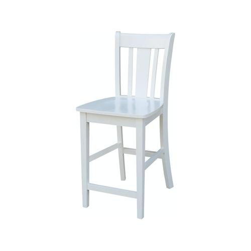 San Remo Stool in Pure White