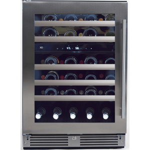 XO APPLIANCE24in Wine Cellar 2 Zone SS Glass LH