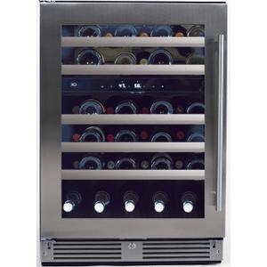 Xo Appliances24in Wine Cellar 2 Zone SS Glass LH