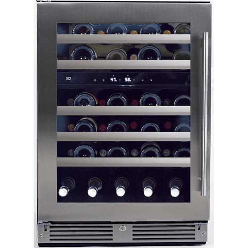 XO Appliance - 24in Wine Cellar 2 Zone SS Glass LH