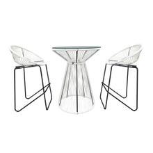 Acapulco 3 Piece Bar Chair Set - White Lightning/Black