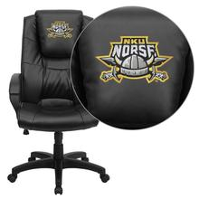 Northern Kentucky University Norses Embroidered Black Leather Executive Office Chair