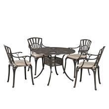 Grenada 5 Piece Dining Set With Cushions