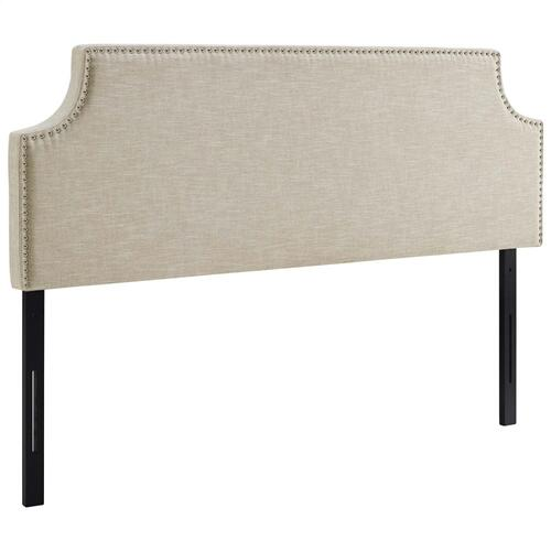 Laura Full Upholstered Fabric Headboard in Beige