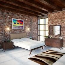 See Details - Tracy 5 Piece Queen Bedroom Set in Cappuccino Latte