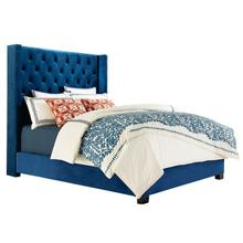 See Details - Westerly King Upholstered Bed, Blue