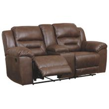 CLEARANCE Stoneland Reclining Loveseat With Console - Chocolate