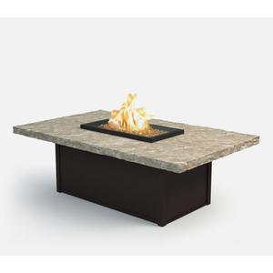 "36"" x 60"" Rectangular Coffee Fire Pit Ht: 19"" Aurora Aluminum Base (Indicate Top & Frame Color)"