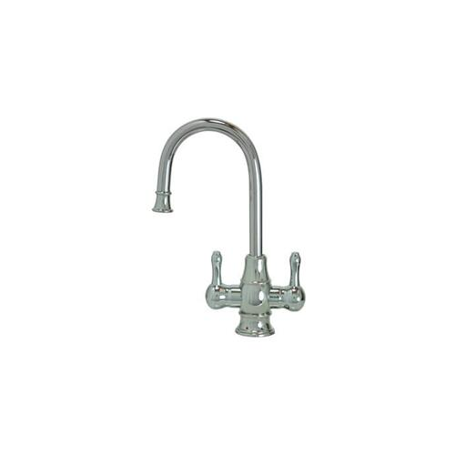 Mountain Plumbing - Hot & Cold Water Faucet with Traditional Curved Body & Curved Handles - PVD Brushed Bronze