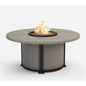 "54"" Round Chat Fire Pit Ht: 24.5"" Valero Aluminum Base (Indicate Top, Frame, & Side Panel Color)"