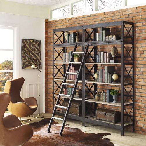 Modway - Headway Wood Bookshelf in Brown