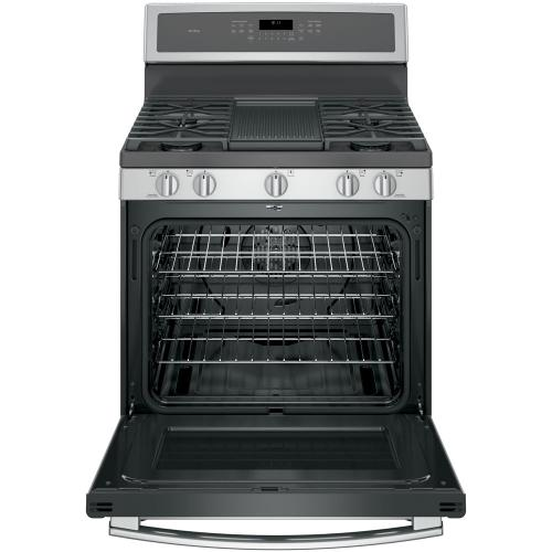 "GE Profile 30"" Gas Freestanding Convection Range Stainless Steel PCGB911SEJSS"