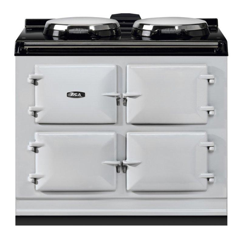 """AGA Dual Control 39"""" Electric/Natural Gas Pearl Ashes with Stainless Steel trim"""