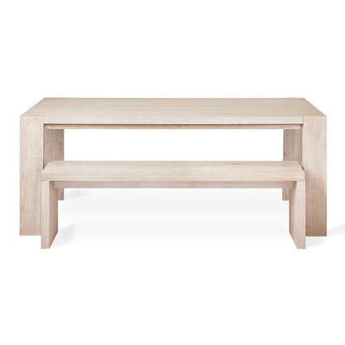Plank Bench White Wash Ash
