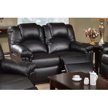 Izem Reclining/Motion Loveseat Sofa or Recliner, Black-bonded-leather, Motion-loveseat
