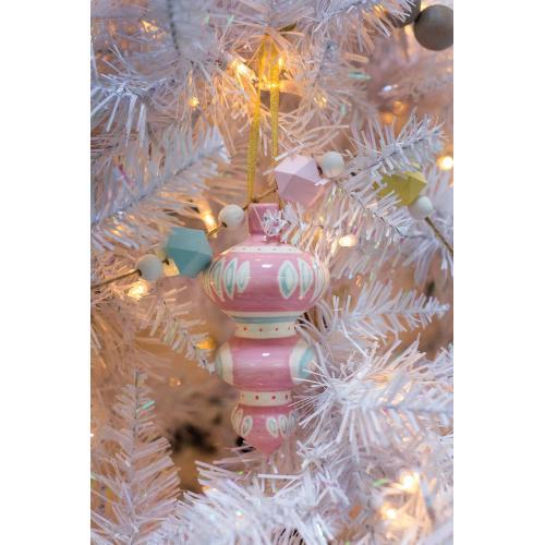 "3""x 6"" Pink Sugarlane Ornament"