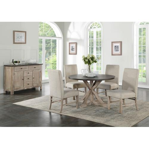 Standard Furniture - Jefferson Round Dining Table, Distressed Brown