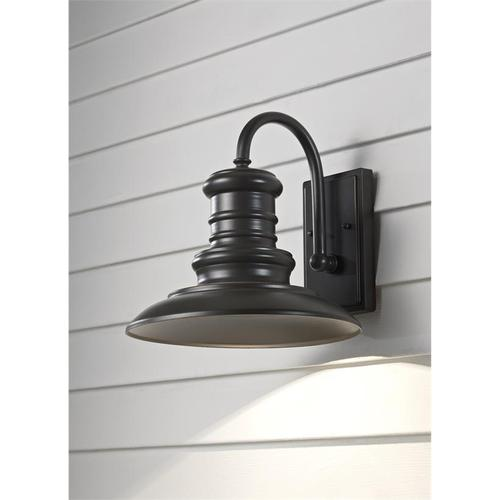Redding Station Medium LED Lantern Tarnished Silver Bulbs Inc