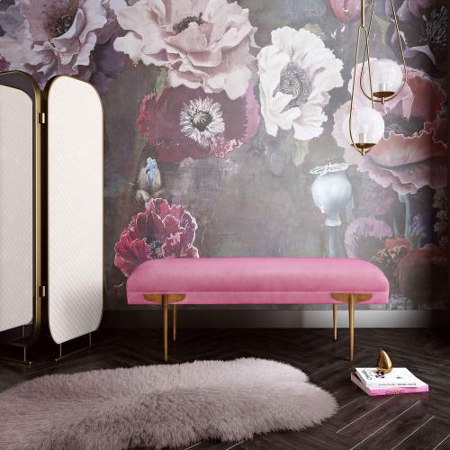 Tov Furniture - Brno Rose Waived Velvet Bench