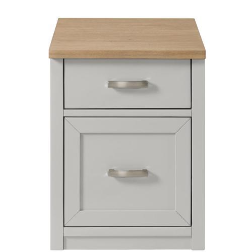 Riverside - Osborne - Mobile File Cabinet - Timeless Oak/gray Skies Finish