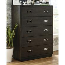 Hyndell Five Drawer Chest Dark Brown