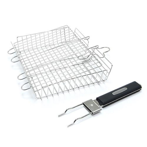 Detachable Handle Grill Basket