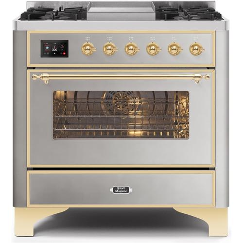 36 Inch Stainless Steel Dual Fuel Natural Gas Freestanding Range