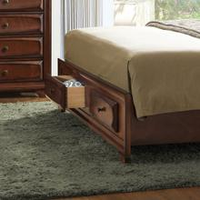 Oakland 139 Antique Oak Finish Wood QUEEN & KING Size Storage Platform Bed, King
