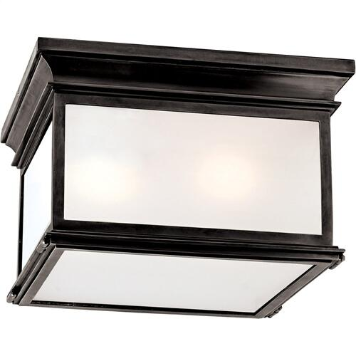 Visual Comfort CHC4129BZ-FG E. F. Chapman Club 3 Light 13 inch Bronze Flush Mount Ceiling Light in Frosted Glass