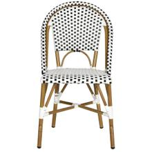 Salcha Indoor - Outdoor Side Chair - Black / White / Light Brown