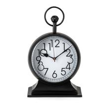 See Details - TY Tribute Black and Gold Desk Clock