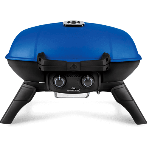 TravelQ 285 Portable Gas Grill , Blue , Propane