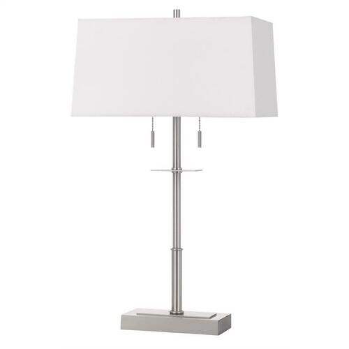 60W X 2 Norwich Metal Table Lamp With Fabric Shade