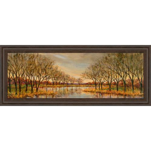 """Classy Art - """"Twilight On The River"""" By Carson Framed Print Wall Art"""