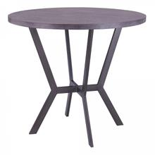 Armen Living Pike Contemporary Bar Table in Mineral Finish and Gray Walnut Top