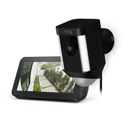 Spotlight Cam Wired with Echo Show 5 - Black