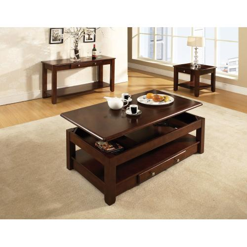 Nelson 3-Piece Lift-Top Cocktail Set(Lift-Top Cocktail & 2 End Tables)